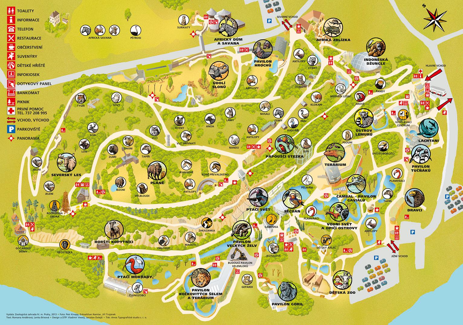 Zoo Praha mapa