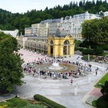 Slavnostní zahájení provozu Zpívající fontány v Mariánských Lázních