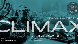 Chris Sadler slaví 22 let party Climax vinylovým online streamem