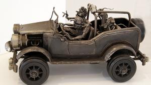 Retrospektivní výstava kovových plastik v Lipníku nad Bečvou. Václav Kitzberger – Otevřené šteláře, figury a tropy