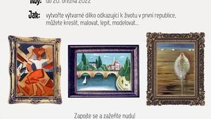 Ve stylu první republiky. Regionální muzeum nabízí mladým výtvarníkům možnost účasti na virtuální výstavě