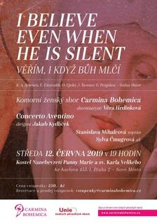 Jarní koncert I BELIEVE EVEN WHEN HE IS SILENT (Věřím, i když Bůh mlčí)