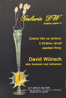 David Wünsch - sklo foukané nad kahanem