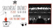 Srdcařské okénko s I Love You Honey Bunny v Rock Café