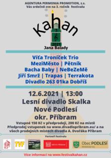 Festival hudby a divadla KAHAN Jana Balady 2021