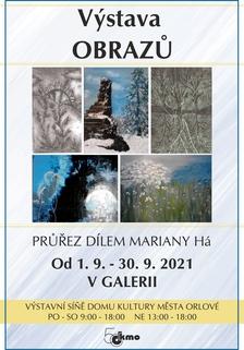 Výstava obrazů - Pruřez dílem Mariany Há